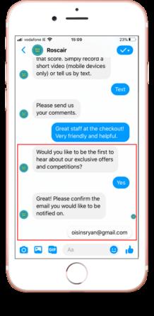 Capturing offline customer details for marketing purposes