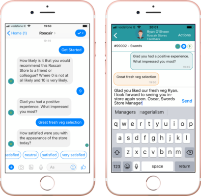Real Time Customer Feedback Captured In Store Via Messaging